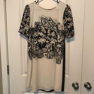 Beautiful black and white shift dress